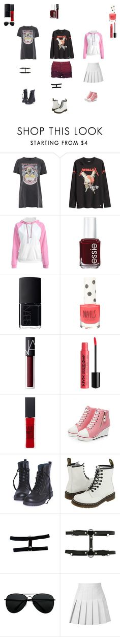 """🌼🌸🌹"" by i-am-reb ❤ liked on Polyvore featuring And Finally, Essie, NARS Cosmetics, Topshop, NYX, Maybelline, Dr. Martens, Hot Topic and Brave Soul"