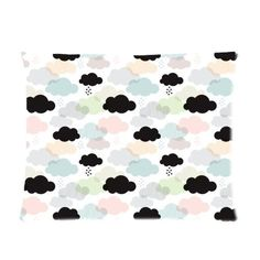 Fashion Home Decorative Pillow Cover Custom Pastel geometric clouds and scandinavian soft sky Picture Pillow Case 20x26 (one side) * Once in a lifetime offer : Decorative Pillows