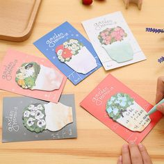 1 PCS Flower Memo Sticker Bookmark Index Tab Pads Flags by 2to2lm