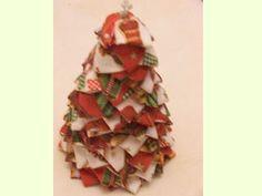Manualidades e ideas para Navidad: Pino de Patchwork sin aguja-1145