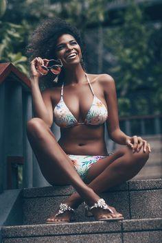 Tropical bikini with MUSA London crystal sandals. Jackie at The Surin Phuket. Phuket, Bikinis, Swimwear, Tropical, Crystal, London, Sandals, Beach, Life