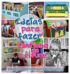 Professora Juce: Muitas ideias para o Cantinho da Leitura na Educação Infantil! Baseball Cards, Sports, Projects, Reading Room, Reading Activities, 3 Year Olds, Hs Sports, Log Projects, Blue Prints