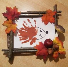 Easy Fall Crafts, Fall Crafts For Kids, Diy For Kids, Kids Crafts, Diy And Crafts, Arts And Crafts, Leaf Crafts, Craft Wedding, Wedding Decor