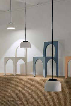 """Résultat de recherche d'images pour """"Stockholm Collection Annular Pendant 2 spun aluminum cones made from the same block offset. jonathansabine via msds"""""""