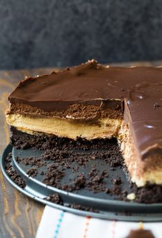 Chocolate and Peanut Butter Mousse Cheesecake recipe