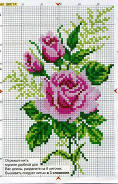 55 Flower Graphics in Cross Stitch – Gr Cross Stitch Love, Cross Stitch Pictures, Cross Stitch Borders, Cross Stitch Flowers, Cross Stitch Designs, Cross Stitching, Cross Stitch Embroidery, Cross Stitch Patterns, Crafts