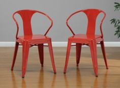 @Overstock - These stacking chairs come in a red color option and have a sturdy steel construction. The polished finish on this set of four chairs is both mar and scratch resistant.http://www.overstock.com/Home-Garden/Red-Tabouret-Stacking-Chairs-Set-of-4/5095637/product.html?CID=214117 $196.99