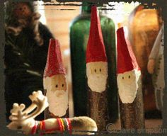 """Scandinavian woodland elves made by Stories under stones Claire Simpson - image shared by Kindling: Playwork, Training, Forest Schools and creative workshops ("""",)"""