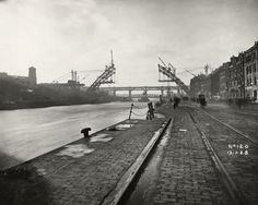 From the Dorman Long collection, documenting the building of The George V or Tyne Bridge between 1925 and a great example of industrial photography. Rare Photos, Old Photos, Gateshead Millennium Bridge, Blaydon Races, Newcastle Gateshead, Bridge Construction, Somewhere In Time, North East England, Industrial Photography