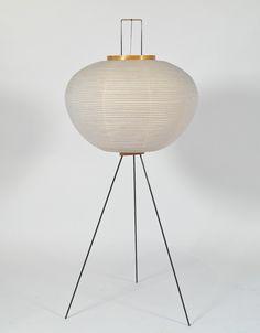 modern floor lamp noguchi | Just in Modern: Isamu Noguchi Tripod Floor Lamp 1960's