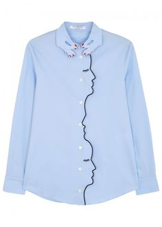 VIVETTA BONN BLUE STRETCH COTTON SHIRT. #vivetta #cloth #