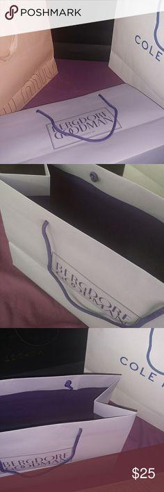 4 luxury shopping bags MiU MUI BERGDORF GOODMAN COLE HAAN ESCADA Escada Bags