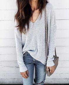 ♕pinterest/amymckeown5 cozy, comfy, sweater, jeans, weekend clothes, sweater weather, casual, saturday