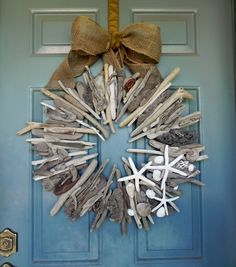 Driftwood Wreath with shells and starfish  24'' by RedRobynLane, $100.00