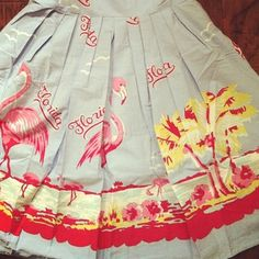 Vintage Florida skirt