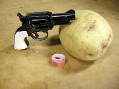 A Spud Gun: such a brilliant invention, the smell & sound of a Cap Gun combined with the ability to shoot friends with small pieces of potato.