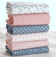 Kyoto our pretty new range of japanese geometric print #fabrics in powder pink and mid blue 100% #quilting #cotton $29.50 #fatquarter #fabricbundle #fabricsandfrills #isew #sewcialists #beautifulfabric #fabricaddict #sewing #patchwork #bunting #japanesefabric #craft