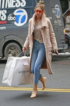Gigi out and about in New York, January 11th