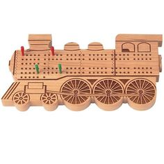 Our unique Train Cribbage is for the aficionado in your family. The board features a laser engraved train engine image. Cribbage Board, Wooden Train, Train Engines, Tic Tac Toe, Memory Games, All Craft, Wood Projects, Board Games, Kids Toys
