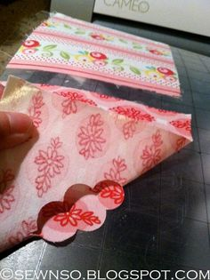 Cutting fabric with Silhouette using Heat N Bond lite.