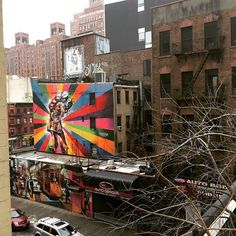 Beautiful art seen from the Highline in NYC #newyorkcityinspired #instagram