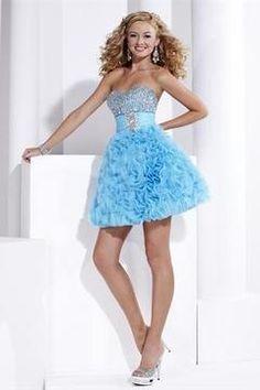 2014 Homecoming Dresses A Line Sweetheart Short/Mini Organza Beadings&Sequins