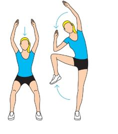 Squat with side crunch