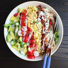 Summery Cobb Salad with Buttermilk Dressing