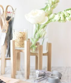 DIY Tutorial: Raised Glass Desk Organizer by A Fabulous Fete for Oh So Beautiful…