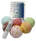 """Paradise Bath Bombs 6 Bomb Gift Set - w/FREE Lip Balm. Handmade with Shea Butter and Organic Sustainable Palm Oil - """"Smell and Feel the Difference"""" - http://47beauty.com/paradise-bath-bombs-6-bomb-gift-set-wfree-lip-balm-handmade-with-shea-butter-and-organic-sustainable-palm-oil-smell-and-feel-the-difference/  Paradise Bath Bombs 6 Bomb Gift Set – w/FREE Lip Balm. Handmade with Shea Butter and Organic Sustainable Palm Oil – """"Smell and Feel the Difference&#"""