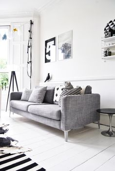 Sofa Grises Decorating Grey Living Room Ideas To Adapt In 2016 Bored Art. 26 Small Living Room Designs With Taste DigsDigs. Another Functional Workspace Idea For Our Living Room Bars For Home Home Table Behind Couch. Living Room Grey, Living Room Interior, Home Interior, Home Living Room, Living Room Decor, Decor Room, Nordic Interior, Interior Ideas, Wall Decor