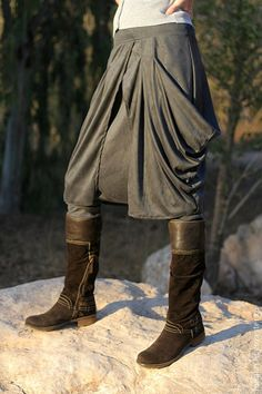 Boho stylish harem pants and skirt together. by ShantimamaShop