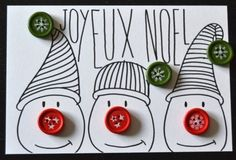 carte de noel faite maison 23 vie www.cartefaitmain.eu #carte #diy Plus