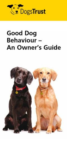 Every dog owner wants a well behaved,  happy dog. However, we all need to  put in some effort to achieve this! This factsheet will point you in the right direction.
