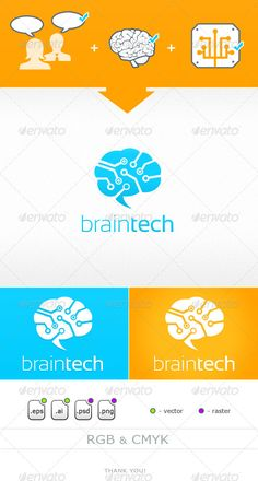 Braintech - Logo Design Template Vector #logotype Download it here: http://graphicriver.net/item/braintech/6136180?s_rank=1726?ref=nexion