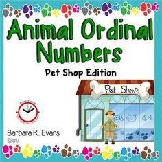 Visit Pete's Pet Shop and practice ordinal number concepts with these digital task cards.