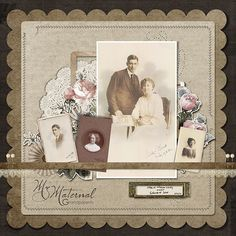 255508978833370586 My Maternal Grandparents Heritage Scrapbook Layout by DSP Designer Meryl