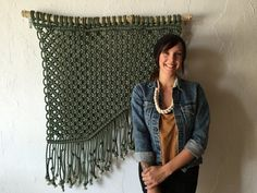 Local fiber artist is making a living off large-scale macrame works