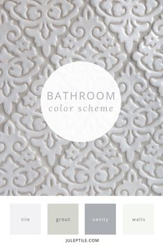 How To Create A Whole House Color Scheme - Julep Tile Company Bathroom Color Schemes, Kitchen Colour Schemes, House Color Schemes, House Colors, Painting Trim, House Painting, Accent Colors For Gray, House Color Palettes, Victorian Wallpaper