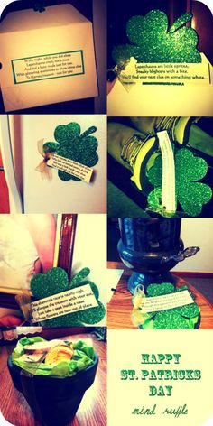 I hope you all enjoyed being Irish this past weekend. I did a little something special for my cousin to celebrate - a Shamrock Scavenger Hun...