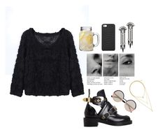 """""""Untitled #1738"""" by katerina-rampota ❤ liked on Polyvore featuring Balenciaga, Marc by Marc Jacobs, H&M, GiGi New York and Ben-Amun"""