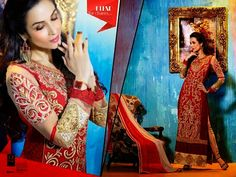 Ethnically designed Party wear Straight cut Red and Beige Georgette Salwar suit with Beautiful thread and Stone work and Karachi Laces on the hemline and Sleeves. Matching Santoon Bottom and Chiffon Duppatta included.