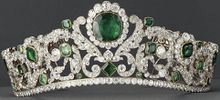 A President Duchesse d'Angoulême's emerald-and-diamond tiara, made in 1820 and currently in the Louvre