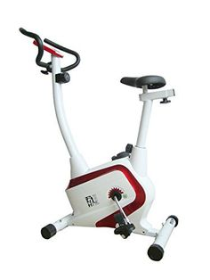 f30a4ea511e4 Olympic ES-8401 Magnetic Belt Bike - Red White Exercise Bike For Sale