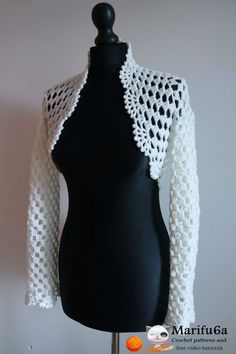 Free crochet patterns and video tutorials: How to crochet bridal easy bolero