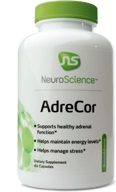 AdreCor supports normal adrenal neurotransmitter function in an amino acid, vitamin, and nutrient rich formula. AdreCor is the Neuroscience's best seller for adrenal support.  AdreCor is for adrenal neurotransmitter support, by addressing issues related to stress, fatigue, low energy. #health #adrenal
