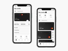 Banking App by Aleksandr Levchenko on Dribbble Web Design, App Ui Design, User Interface Design, Design Layouts, Flat Design, Bank Branding, App Design Inspiration, Design Ideas, Mobile Art