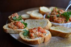 Roasted Red Pepper and Artichoke Tapenade with Crostini | taste love and nourish