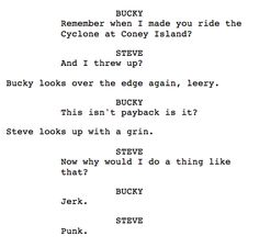 Original script from Captain America: The First Avenger <<< This is so.... FEELS