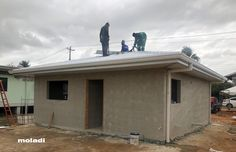 moladi model home Trinidad Low Cost Housing, Affordable Housing, Model Homes, Rafting, Trinidad, Shed, Construction, Outdoor Structures, House Design